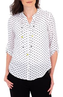 Anna Rose Spot Blouse With Necklace