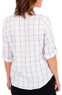 Anna Rose Shimmer Check Top