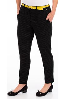 Anna Rose Slim Leg Spot Trousers With Belt