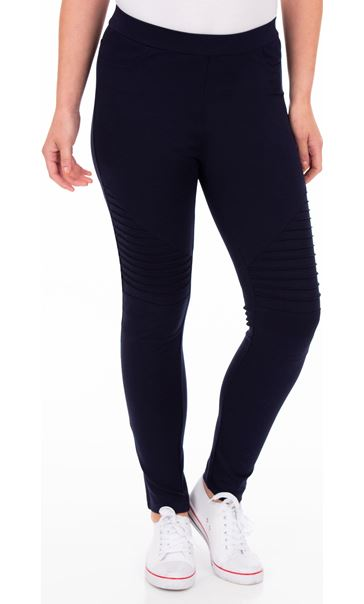 Full Length Ponte Leggings Blue