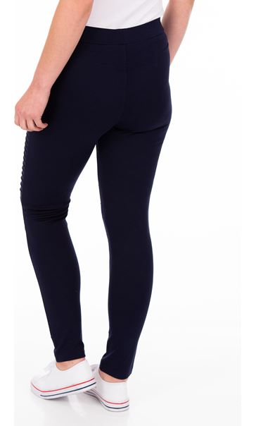 Full Length Ponte Leggings Blue - Gallery Image 2