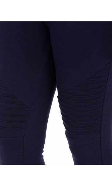 Full Length Ponte Leggings Blue - Gallery Image 3