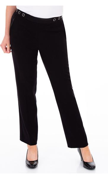 Anna Rose 27 Inch Straight Leg Trousers - Black