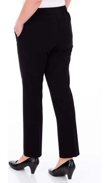 Anna Rose 27 Inch Straight Leg Trousers Black - Gallery Image 3
