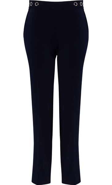 Anna Rose 27 Inch Straight Leg Trousers Navy