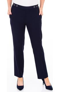 Anna Rose 27 Inch Straight Leg Trousers - Navy