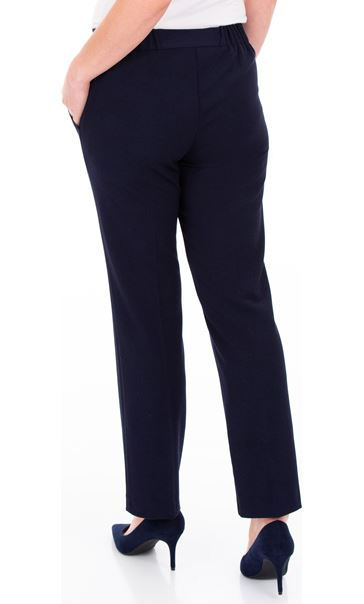 Anna Rose 27 Inch Straight Leg Trousers Navy - Gallery Image 3