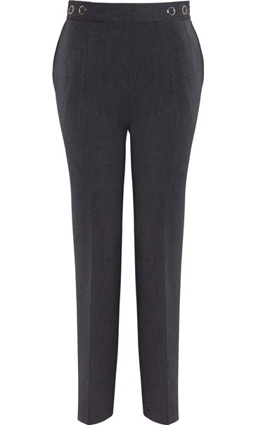 Anna Rose 27 Inch Straight Leg Trousers Mid Grey - Gallery Image 4