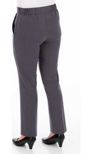 Anna Rose 29 Inch Straight Leg Trousers Mid Grey - Gallery Image 3