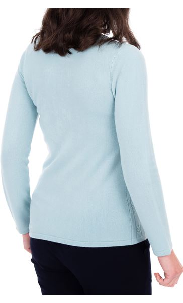 Anna Rose Cable Design Knit Top Blue - Gallery Image 2