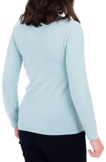 Anna Rose Cable Design Knit Top - Blue