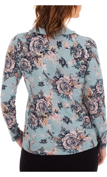Anna Rose Printed Brushed Knit Top With Scarf Starlight Multi - Gallery Image 3