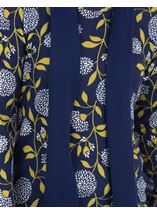 Anna Rose Floral Print Brushed Knit Top With Scarf Navy/Lime - Gallery Image 4