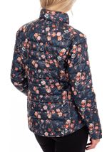 Anna Rose Pack Away Floral Coat Navy Floral - Gallery Image 2