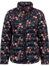Anna Rose Pack Away Floral Coat Navy Floral - Gallery Image 3