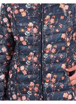 Anna Rose Pack Away Floral Coat Navy Floral - Gallery Image 4