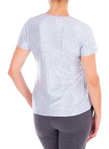 Anna Rose Foil Printed Jersey Top Lilac/Silver - Gallery Image 2