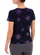 Anna Rose Short Sleeve Glitter Jersey Top Midnight/Purple - Gallery Image 3