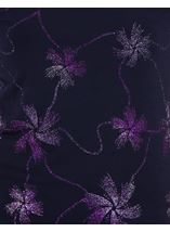 Anna Rose Short Sleeve Glitter Jersey Top Midnight/Purple - Gallery Image 4