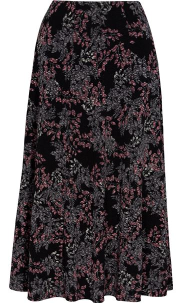 Anna Rose Leaf print Panelled Midi Skirt