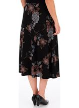 Anna Rose Printed Panelled Midi Skirt Black/Dusty Pink/Grey - Gallery Image 2