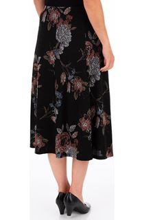 Anna Rose Printed Panelled Midi Skirt