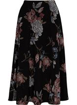 Anna Rose Printed Panelled Midi Skirt Black/Dusty Pink/Grey - Gallery Image 3