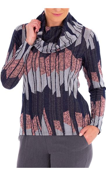 Anna Rose Cowl Neck Knit top Multi