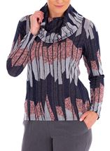 Anna Rose Cowl Neck Knit top Multi - Gallery Image 1
