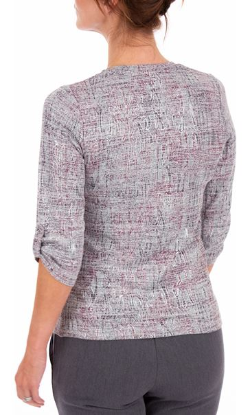 Anna Rose Printed Knit Top With Necklace