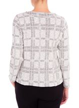 Anna Rose Checked Zip Jacket Grey/Dusty Pink - Gallery Image 2