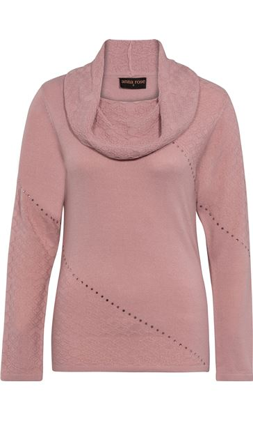 Anna Rose Cowl Neck Knit Top Pink - Gallery Image 4