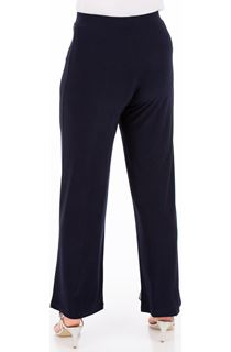 Embellished Split Front Wide Leg Trousers