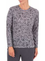 Anna Rose Embellished Lightweight Knit Top Grey Marl - Gallery Image 1