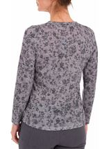 Anna Rose Embellished Lightweight Knit Top Grey Marl - Gallery Image 2