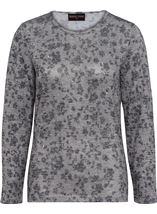 Anna Rose Embellished Lightweight Knit Top Grey Marl - Gallery Image 3