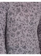 Anna Rose Embellished Lightweight Knit Top Grey Marl - Gallery Image 4