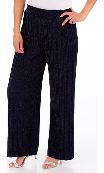 Wide Leg Sparkle Trousers Midnight/Silver