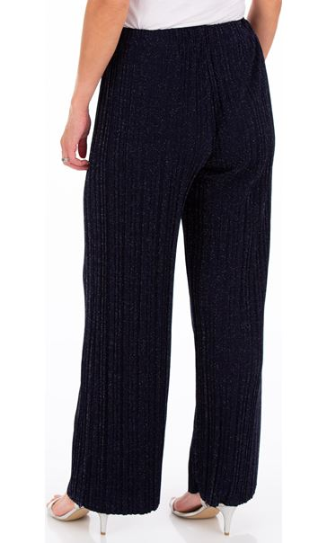 Wide Leg Sparkle Trousers Midnight/Silver - Gallery Image 2