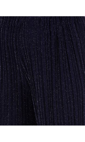 Wide Leg Sparkle Trousers Midnight/Silver - Gallery Image 3