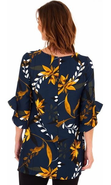 Frill Sleeve Printed Tunic Midnight - Gallery Image 2
