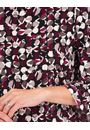 Printed Three Quarter Fluted Sleeve Tunic Black/Damson - Gallery Image 3