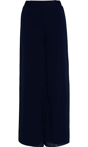 Anna Rose Wide Leg Chiffon Overlayer Trousers