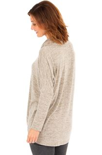 Oversized Cowl Neck Knitted Tunic