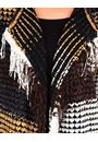 Open Front Knitted Cardigan Black/Camel - Gallery Image 3