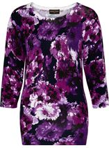 Anna Rose Embellished Floral Knit Top Midnight/Purple - Gallery Image 3
