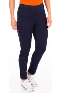 Textured Panelled Treggings - Blue