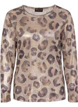 Anna Rose Animal Print Knitted Top Dusty Pink/Multi - Gallery Image 3