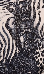 Anna Rose Animal Print Knit Top Black/White - Gallery Image 3