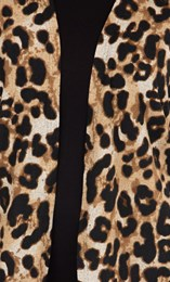 Animal Printed Brushed Knit Cover Up Beige/Brown - Gallery Image 3